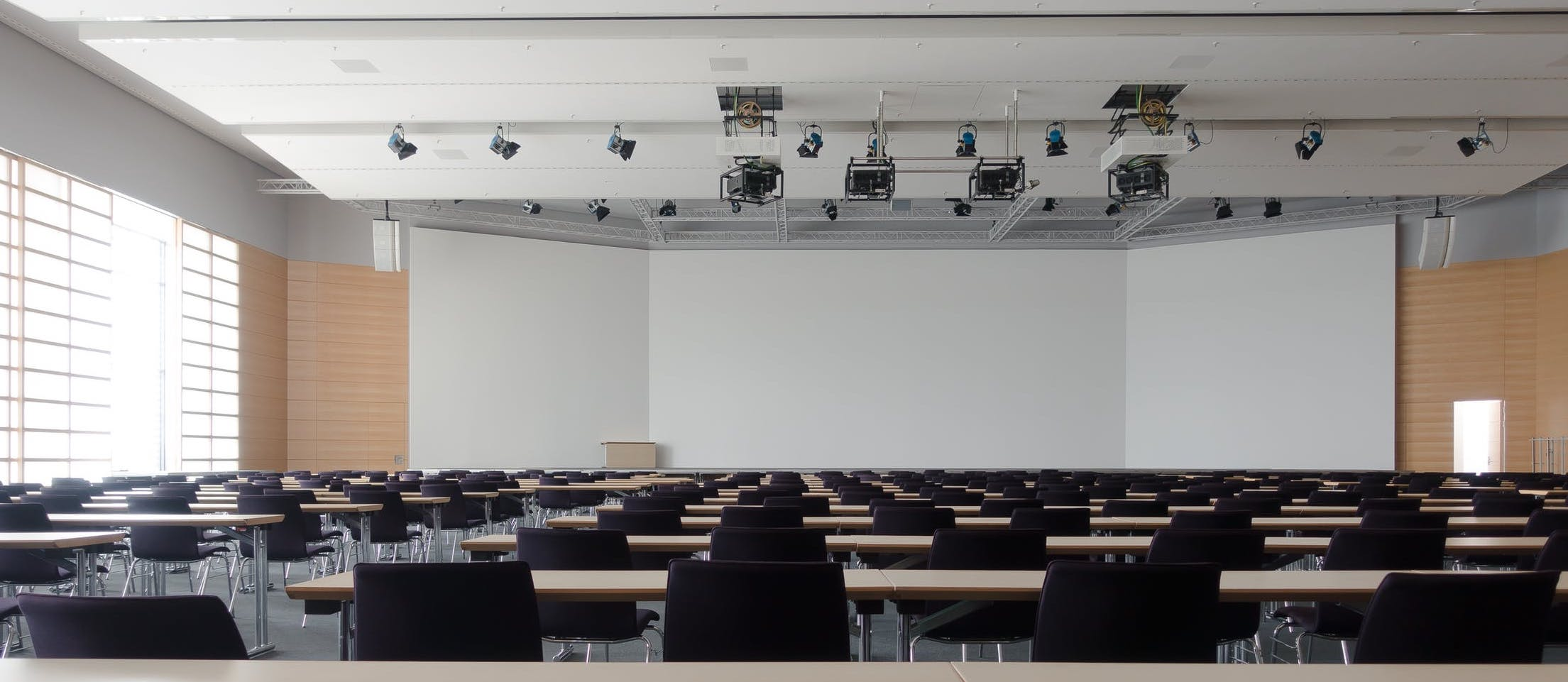 Business school classroom
